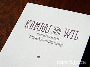 wedding invitations san diego kambri wil paper and home With letterpress wedding invitations san diego