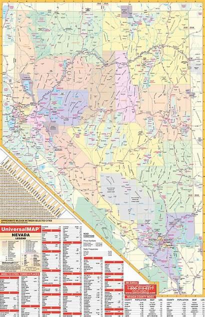 Nevada Map State Wall Maps Highway Kappa