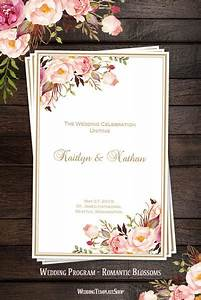 wedding ceremony programs templates wedding program templates diy printable order of service