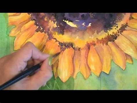 Paint a Sunflower in Watercolor Part 6: Finishing touches