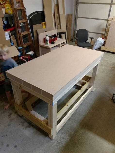 torsion box workbench   woodshop