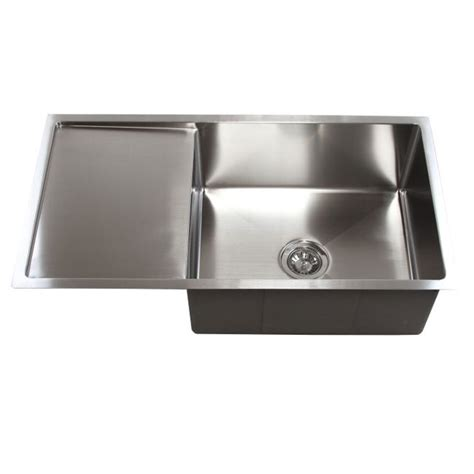 kitchen sinks with drain boards 36 inch stainless steel undermount single bowl kitchen 8599