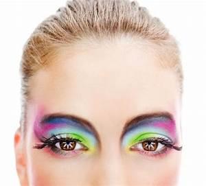 Image Gallery neon rainbow eye makeup