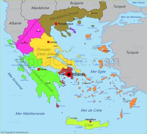 Carte Du Monde Grece Crete by Carte Gr 232 Ce Annacarte