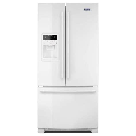 white door refrigerator maytag 33 in w 22 cu ft door refrigerator in