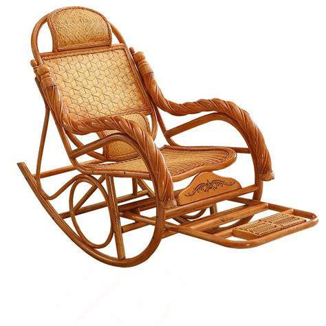 luxury rocking chair rattan wicker furniture china