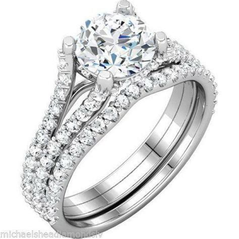 white gold wedding ring sets ebay