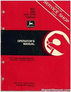 John Deere 850 950 1050 Tractor Operators Manual