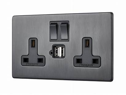 Usb Penthouse Twin Bronze Switched Socket Antique