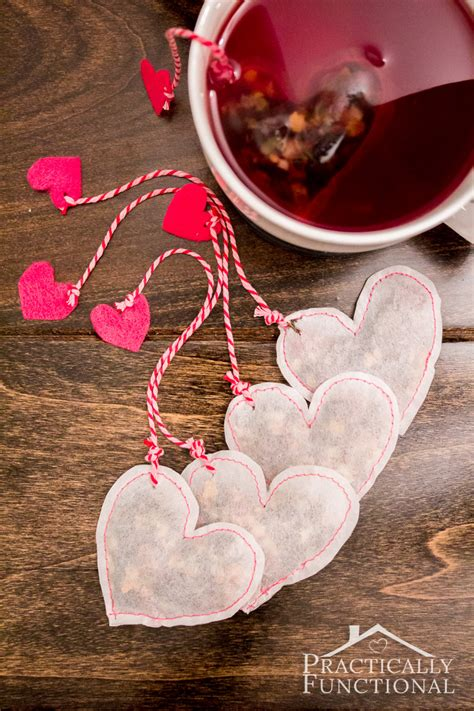 diy heart shaped tea bags  valentines day