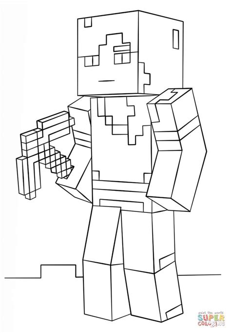 minecraft alex super coloring coloring pages pinterest coloring coloring pages
