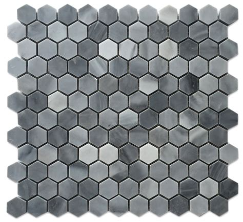 honeycomb mosaic floor tiles graystoke 1x1 quot hexagon honeycomb mosaic floor and wall tile
