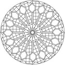 Pattern Mandala Coloring Pages
