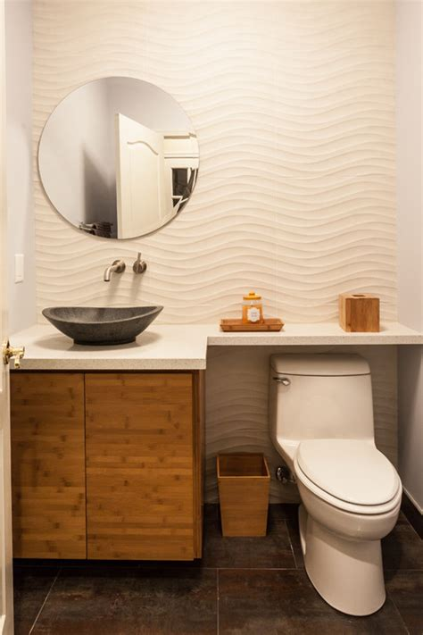 tile ideas for small bathroom wave goodbye says the wall tile to the powder room