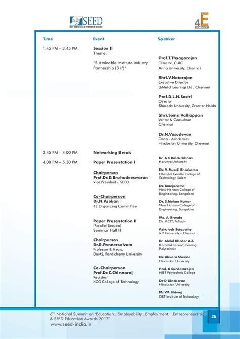 national summit schedule