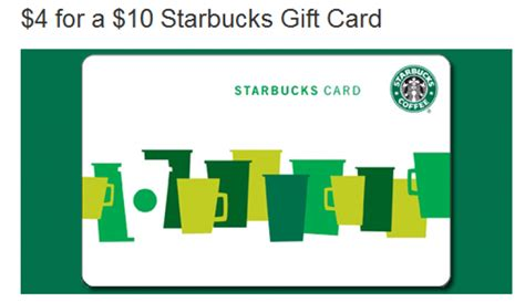 Maybe you would like to learn more about one of these? $4 for a $10 Starbucks Gift Card