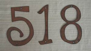 individual house numbers or letters rustic metal 4 inch to With rustic metal letters and numbers