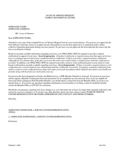 leave  absence letter penn working papers