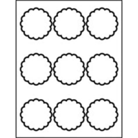 templates scallop labels 9 per sheet avery