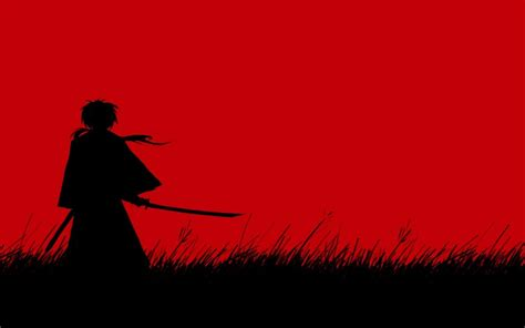 Samurai X Ruroni Kenshin Simple Background Swords