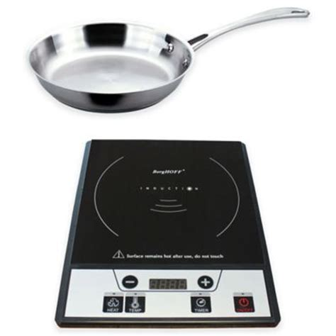 berghoff  piece induction stove  stainless steel fry pan set bed bath   canada