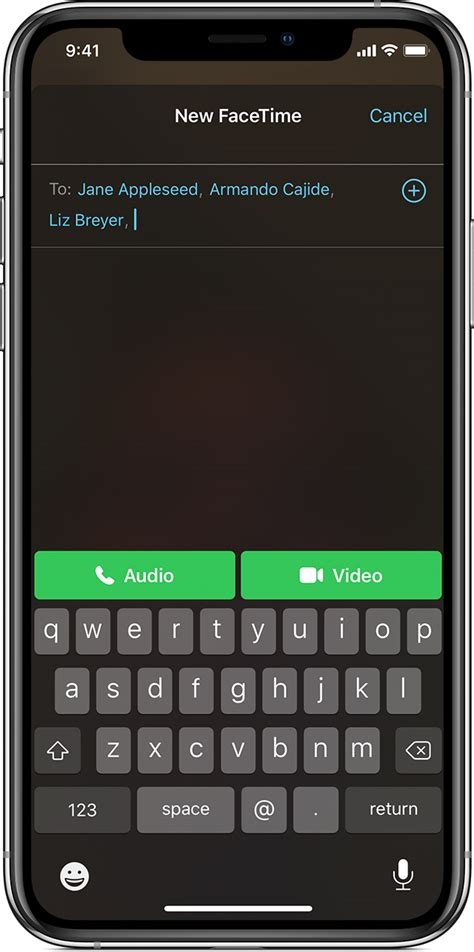 facetime iphone app ipad apple person ios call calls start touch adding contact support initiate guide ipod button screenshot open
