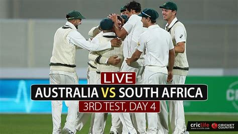 Live Cricket Score, Australia Vs South Africa, 3rd Test