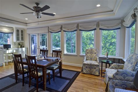 House Kitchen Breakfast Room And Deck by Dunwoody Kitchen Deck Sunroom Traditional Dining