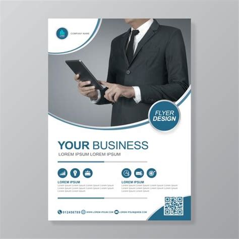 business cover  template  flat icon   report