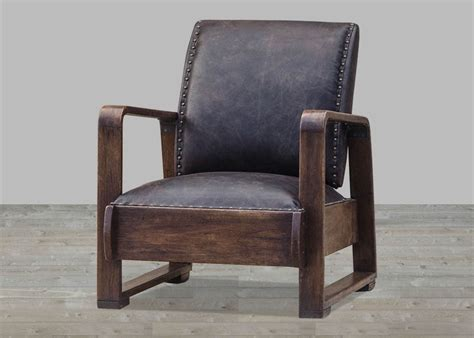 Shaded Walnuat Halo Brown Leather Duduk Accent Chair