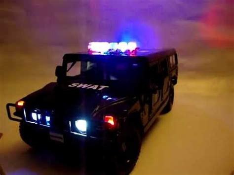 swat hummer police car  working lights youtube