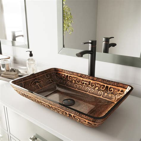 franco kitchen sinks vigo vessel sink in golden and milo faucet set in 1054