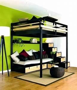 Lit Deux Places Conforama : lit mezzanine 2 places conforama lit mezzanine cm swan lit ~ Melissatoandfro.com Idées de Décoration