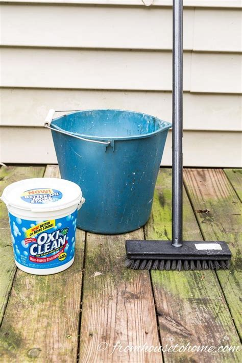 Oxygen Deck Cleaner Recipe by Best 25 Deck Cleaning Ideas On Aluminum