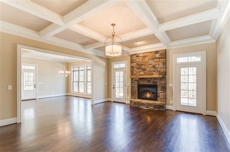 Living Room With Fireplace And Doors by Fireplace Flanked By Doors Traditional