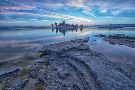 Sun rising on the majestic tufa of Mono Lake in California
