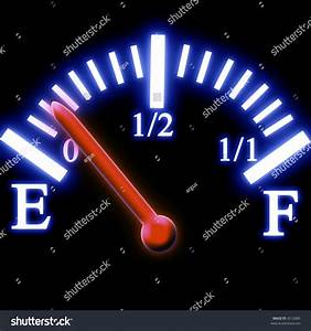 Almost Empty Fuel Tank Meter Stock Illustration 4512880 ...