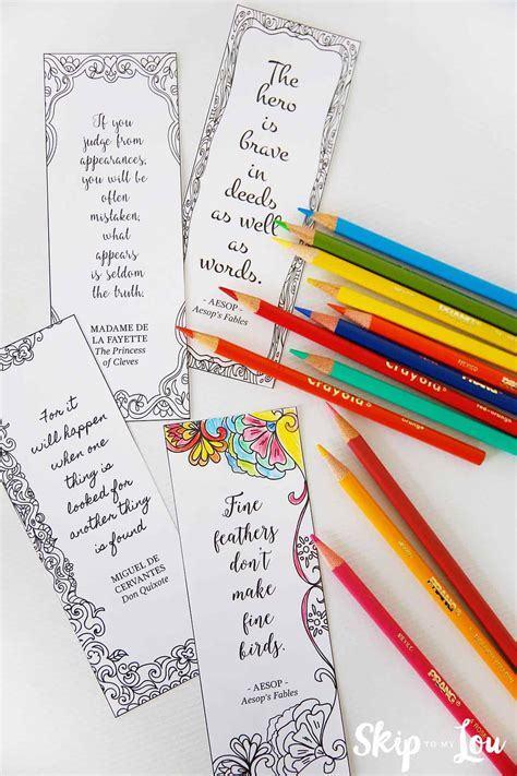 coloring bookmarks  inspirational quotes
