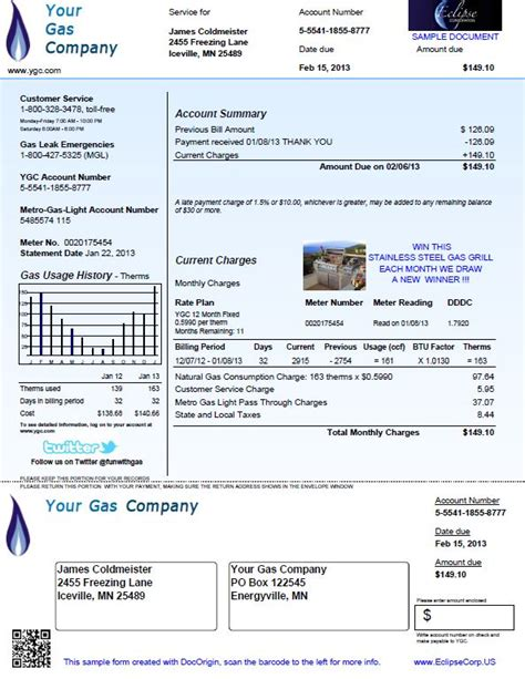 utility bill template free printable electric bill pdf search engine at search