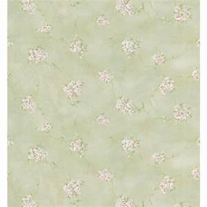 Brewster 56 sq. ft. Misty Floral Wallpaper