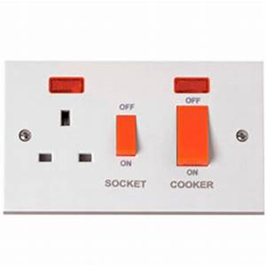 Buy Polar 45 Amp Cooker Switch with Neon light White