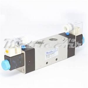 5 Ports 4 Way 2 Position Valve 1  2 U0026quot  Npt Din Connector