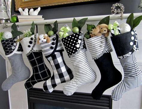 ideas  decoracion de navidad blanco  negro