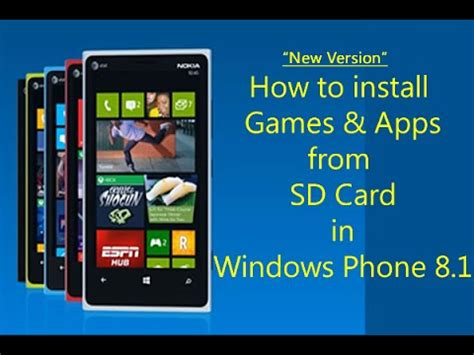 how to install from sd card in windows phone 8 1 for nokia lumia htc phones