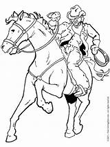 Cowboy Coloring Pages Horse Printable Cowboys Adult Boys Drawing Western Horses Colouring Cowgirl Books Drawings Riding Cartoon Theme Printables Burning sketch template