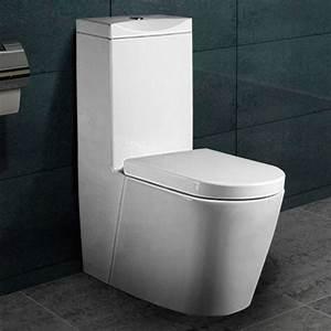 Stand Wc Mit Keramikspülkasten : stand wc design wei top mit nano beschichtung softclose ~ Articles-book.com Haus und Dekorationen