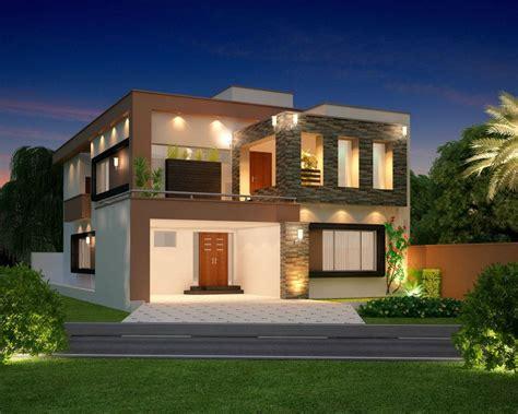 front side design of home 10 marla modern home design 3d front elevation lahore pakistan design dimentia eden
