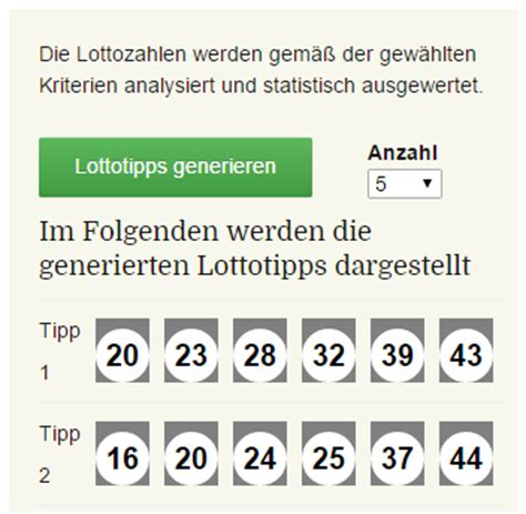 lotto vorhersage durch aktuelle lottozahlen statistik