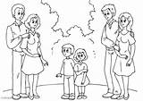 Parents Kleurplaat Coloring Coloriage Eltern Colorear Para Padres Dibujo Ouders Pareja Malvorlage Pages Avec Con Met Nieuwe Partners Neuen Partnern sketch template
