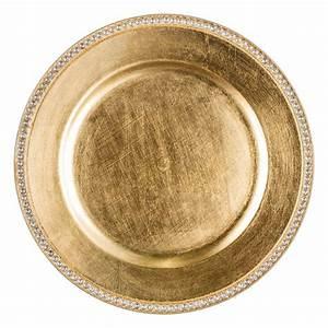 Lot D Assiette : lot de 12 dessous d 39 assiette strass or d coration pour la table eminza ~ Teatrodelosmanantiales.com Idées de Décoration